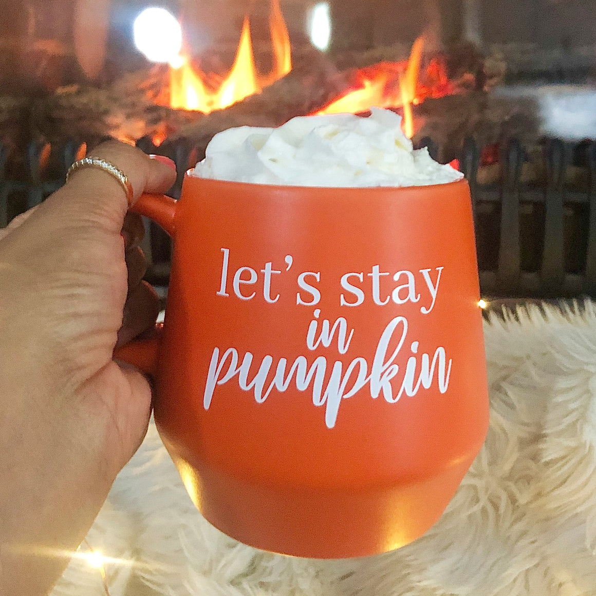 Let's Stay In Pumpkin Mug - Pretty Collected