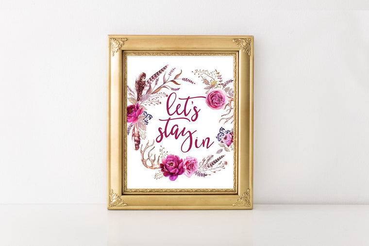 Let's Stay In Printable - Pretty Collected