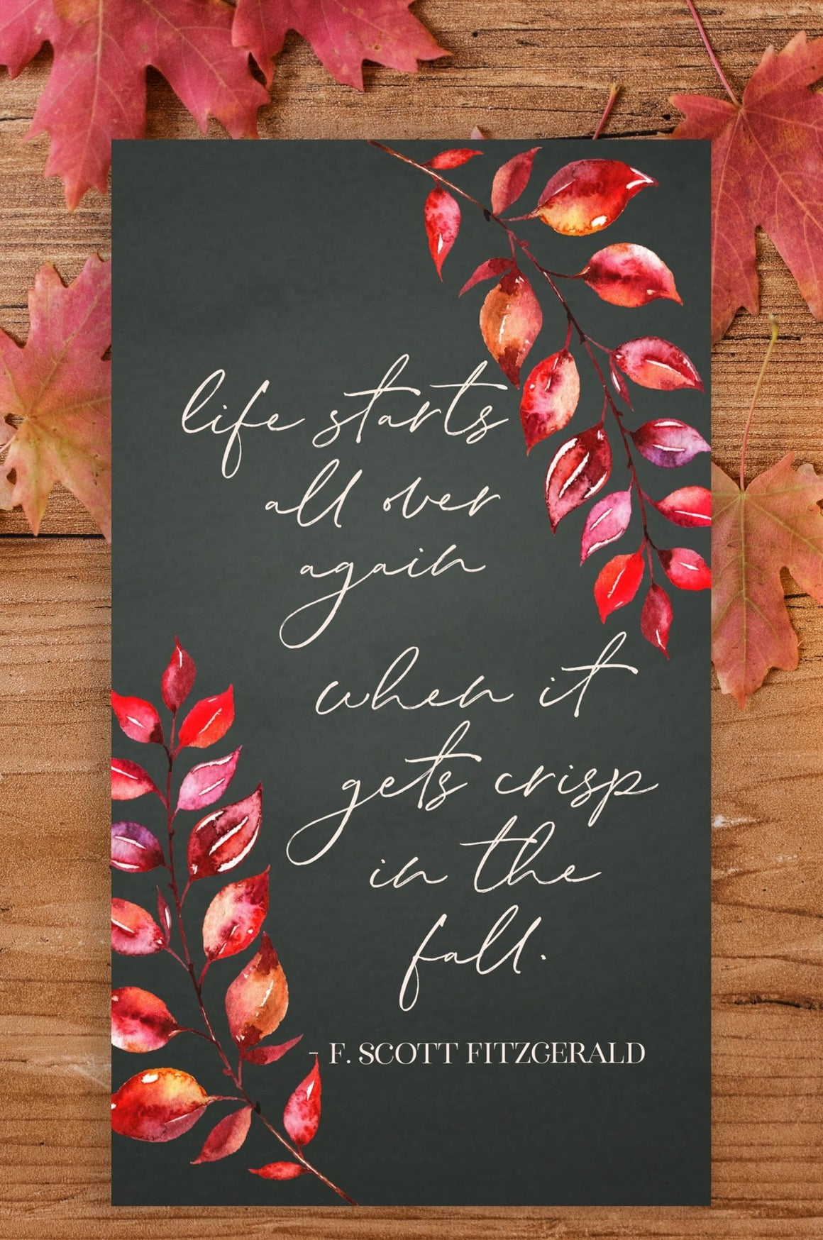 Life Starts All Over Again When It Gets Crisp in the Fall - FREE Wallpaper - Pretty Collected