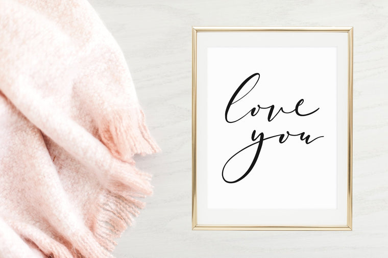 Love You Printable - Pretty Collected