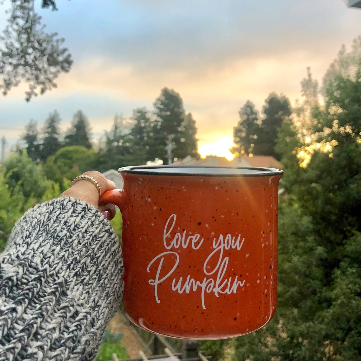 Love You Pumpkin Campfire Coffee Mug - Pretty Collected