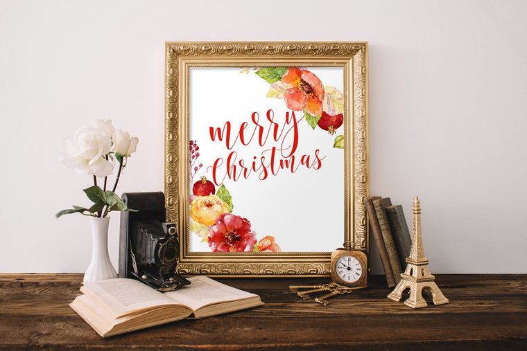 Merry Christmas Printable - Pretty Collected
