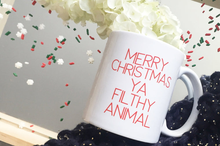 Merry Christmas Ya Filthy Animal Mug - Pretty Collected