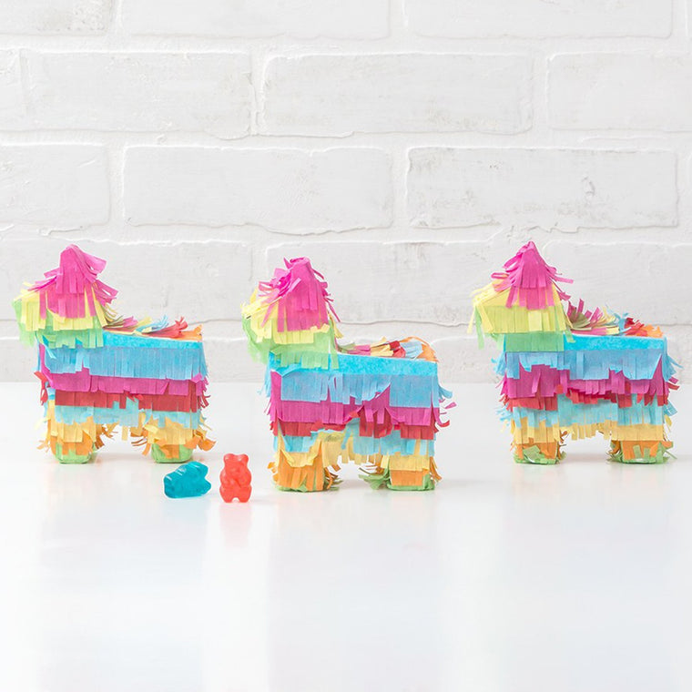 Mini Donkey Pinata Favors - Set of 3 - Pretty Collected