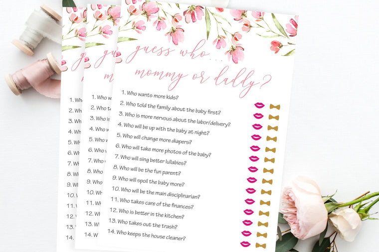Mommy or Daddy - Spring Floral Printable - Pretty Collected