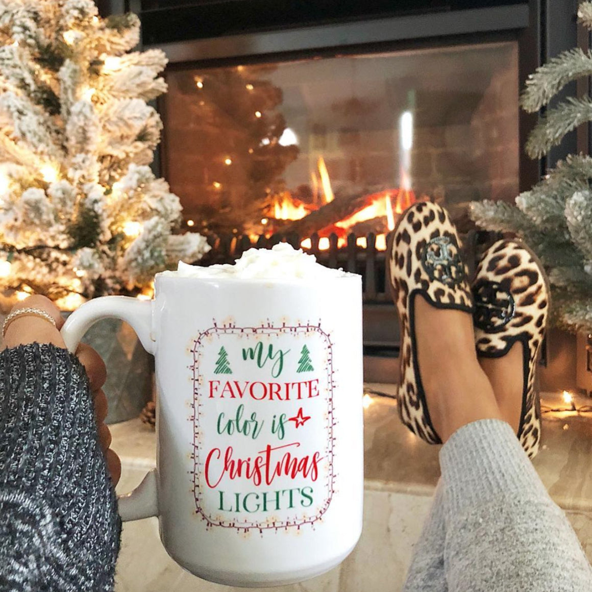 My Favorite Color is Christmas Lights Mug - Pretty Collected