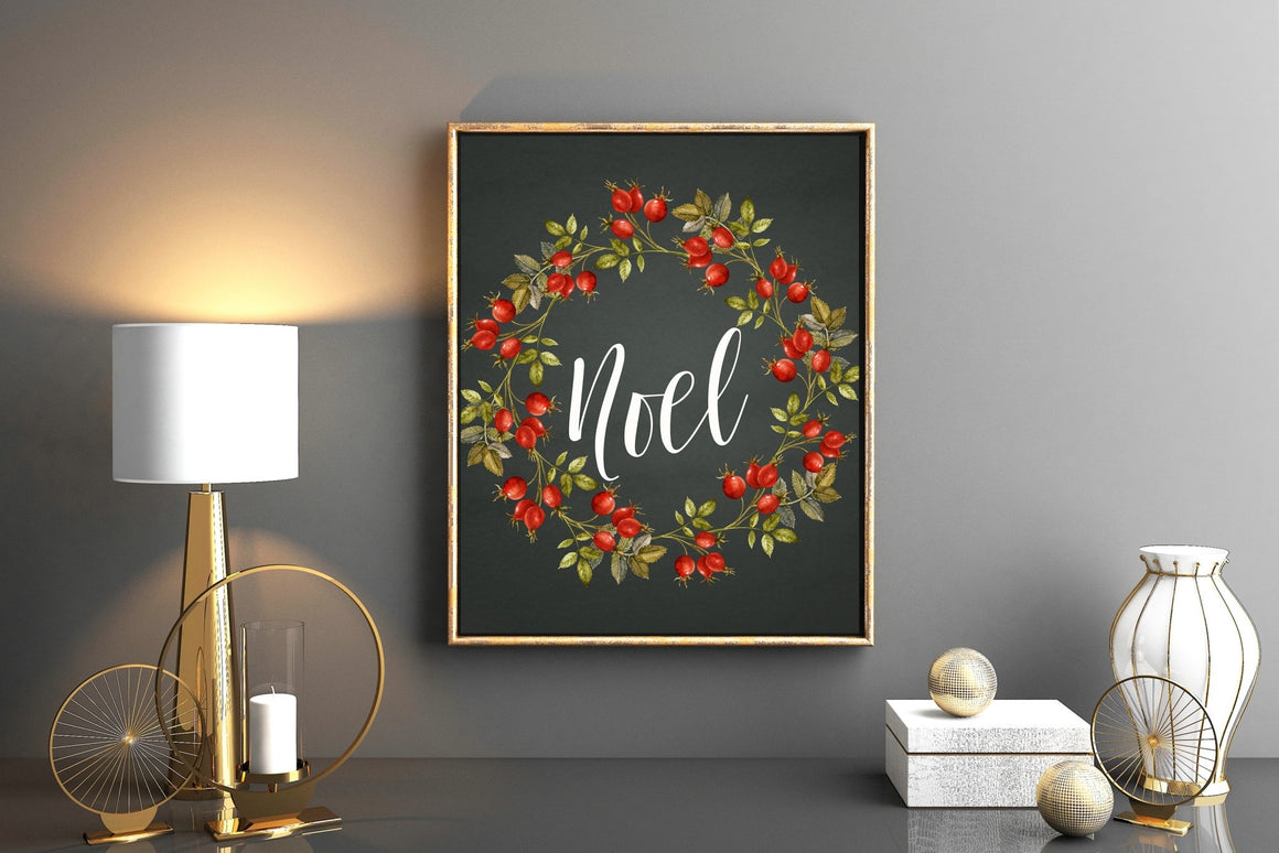 Noel Wall Art - FREE Printable - Pretty Collected