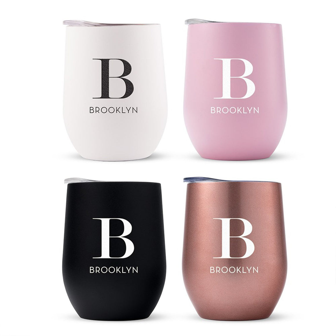 Personalized Name & Initial Wine Tumbler - Pretty Collected
