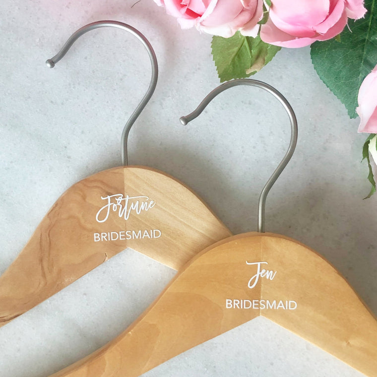 Personalized Bridesmaid Hangers - Pretty Collected