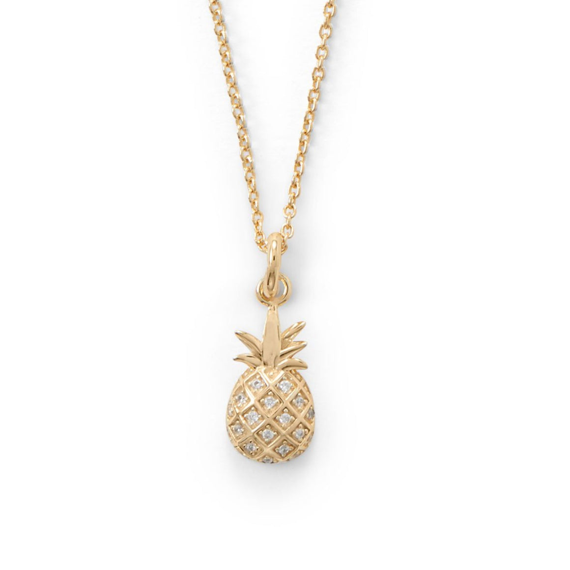Dainty Pineapple Necklace - Pretty Collected
