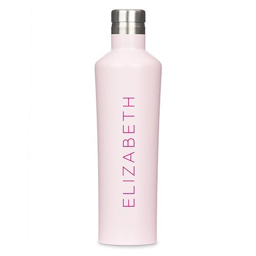 Personalized Stainless Steel Water Bottle - Pink