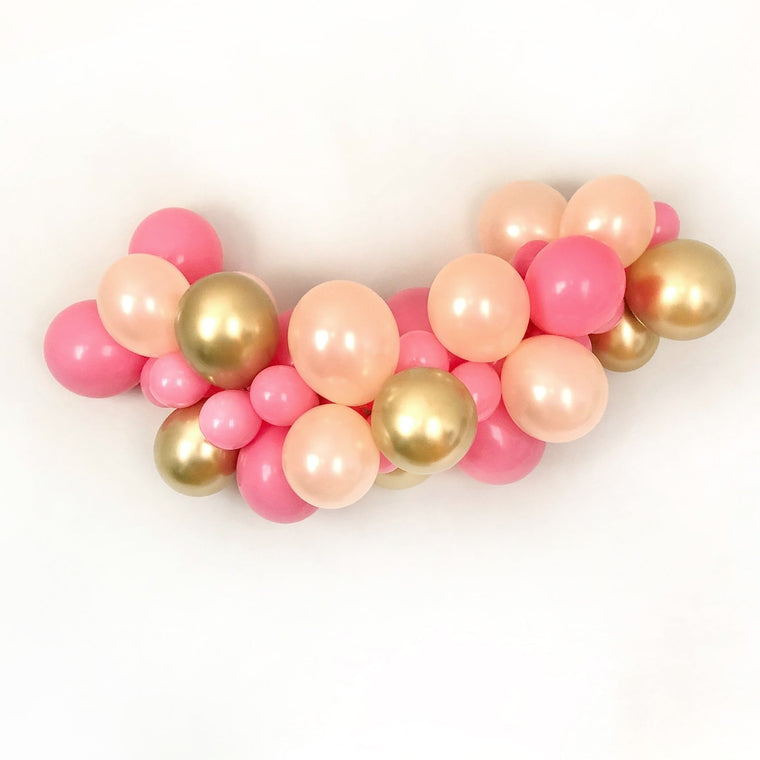 Pink & Gold Balloon Garland Kit - Pretty Collected
