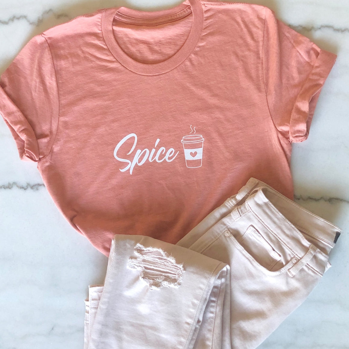 Matching Pumpkin Spice Tees - Pretty Collected
