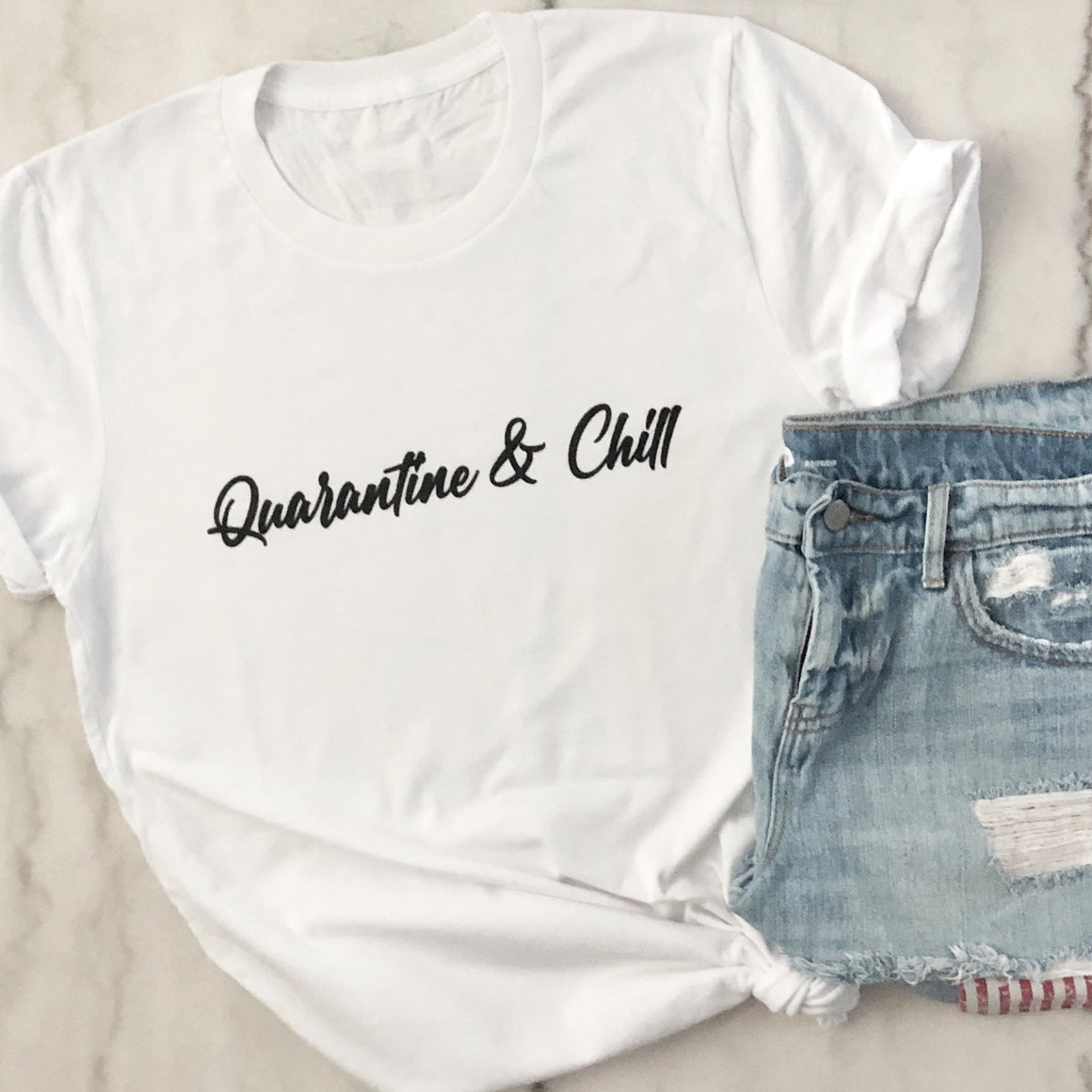 Quarantine & Chill Tee - Pretty Collected