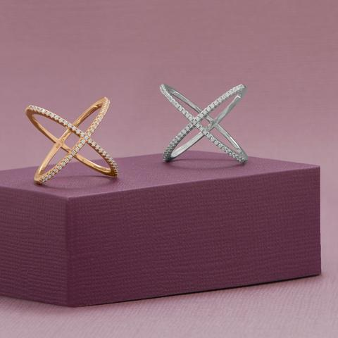Sofie X Ring - 18 Karat Rose Gold Plated - Pretty Collected