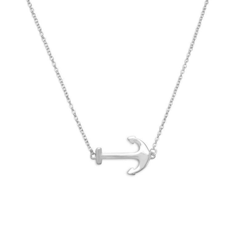 Silver Anchor Necklace - Pretty Collected