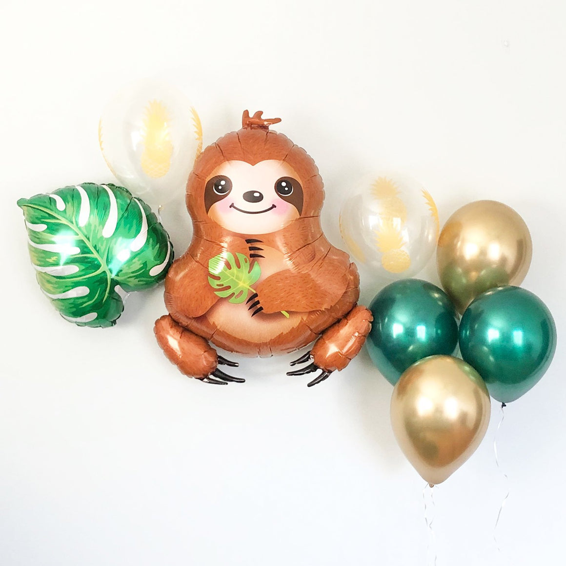 Baby Sloth and Tropical Balloon Set - Pretty Collected