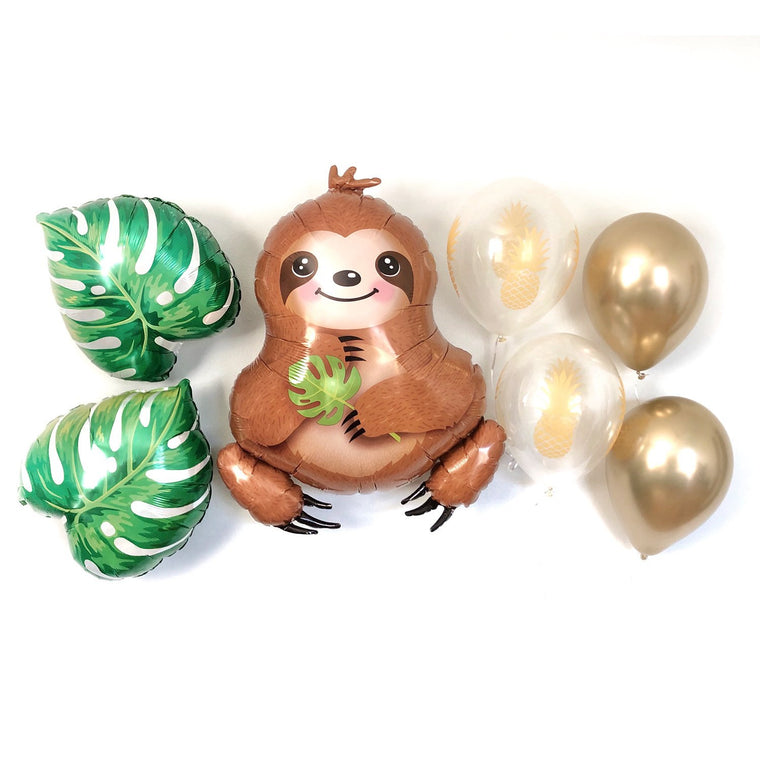 Baby Sloth and Tropical Pineapple Balloon Set - Pretty Collected