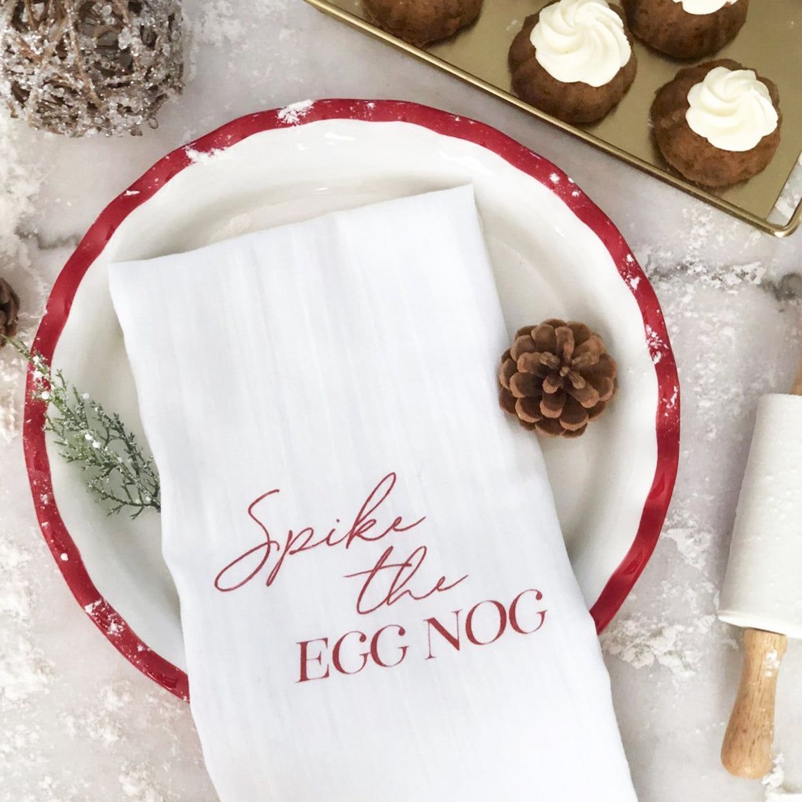 Spike the Egg Nog Tea Towel - Pretty Collected