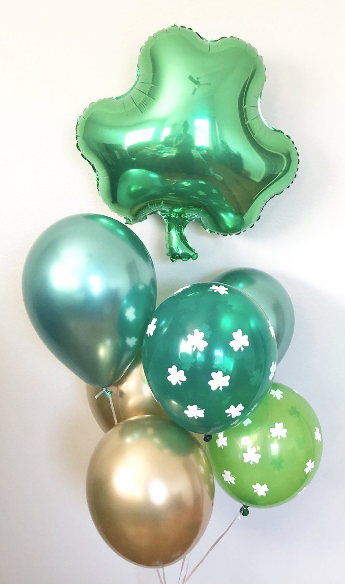 St. Patrick's Day Shamrock Balloon Set - Pretty Collected