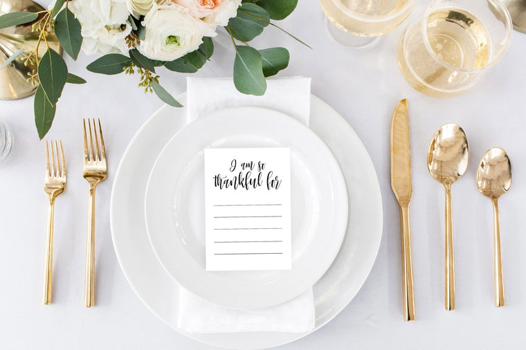 Thankful Card - FREE Place Setting Printable - Pretty Collected