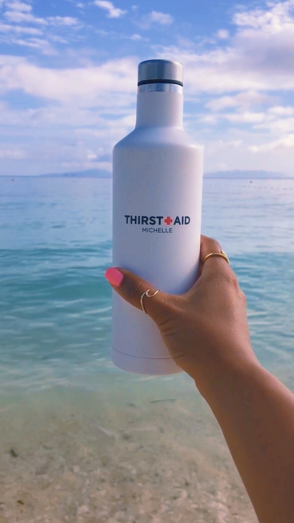 Thirst Aid Stainless Steel Water Bottle - Personalized - Pretty Collected