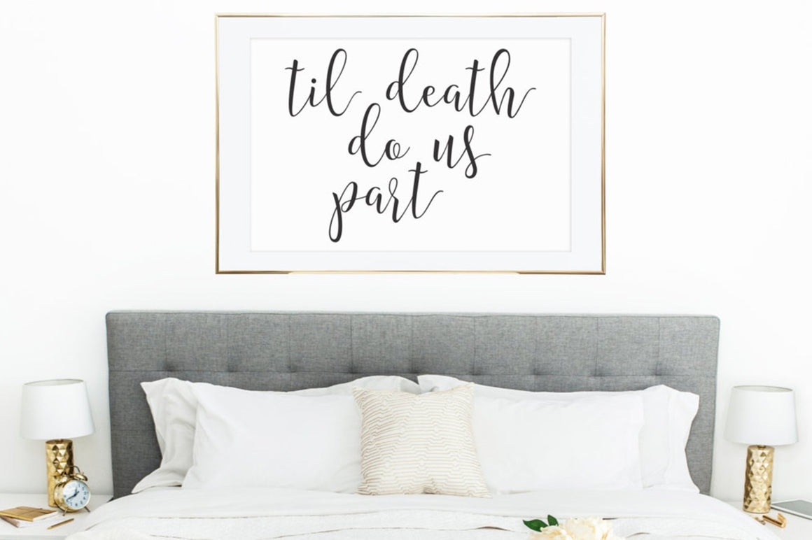 Til Death Do Us Part - FREE Printable - Pretty Collected