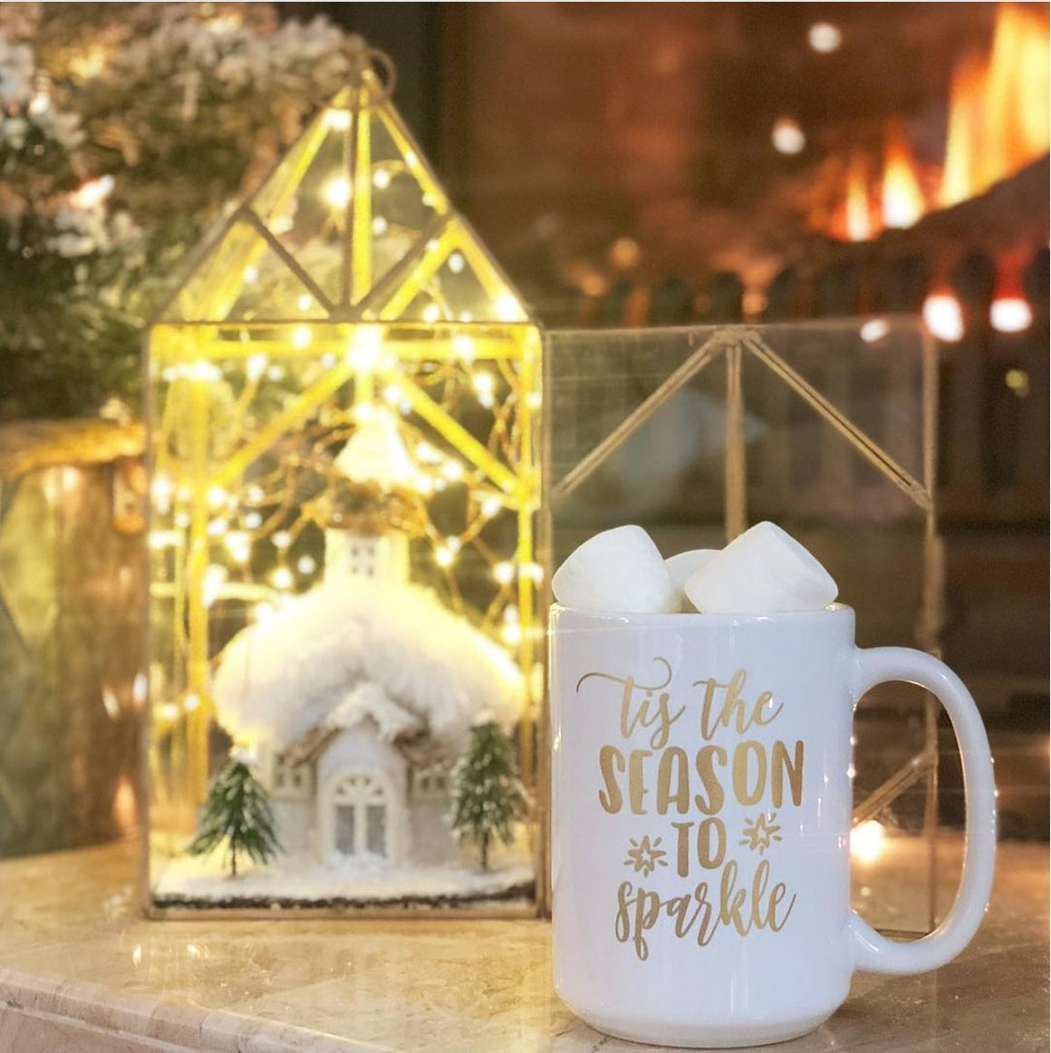 Tis the Season to Sparkle Gold Foil Mug - Pretty Collected
