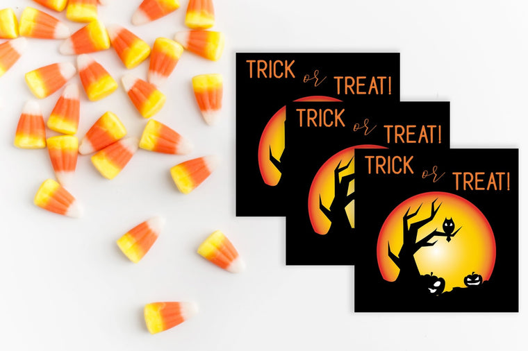 Trick or Treat Candy Bag Tags - FREE Printable - Pretty Collected