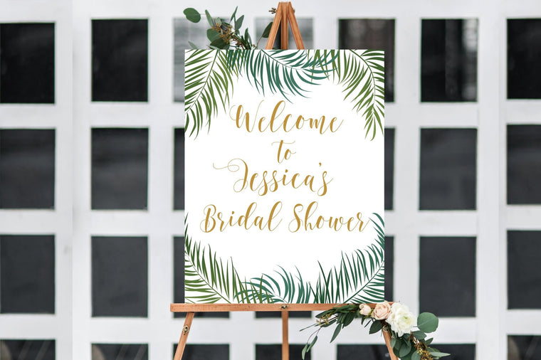 Bridal Shower Welcome Sign - Tropical Printable - Pretty Collected