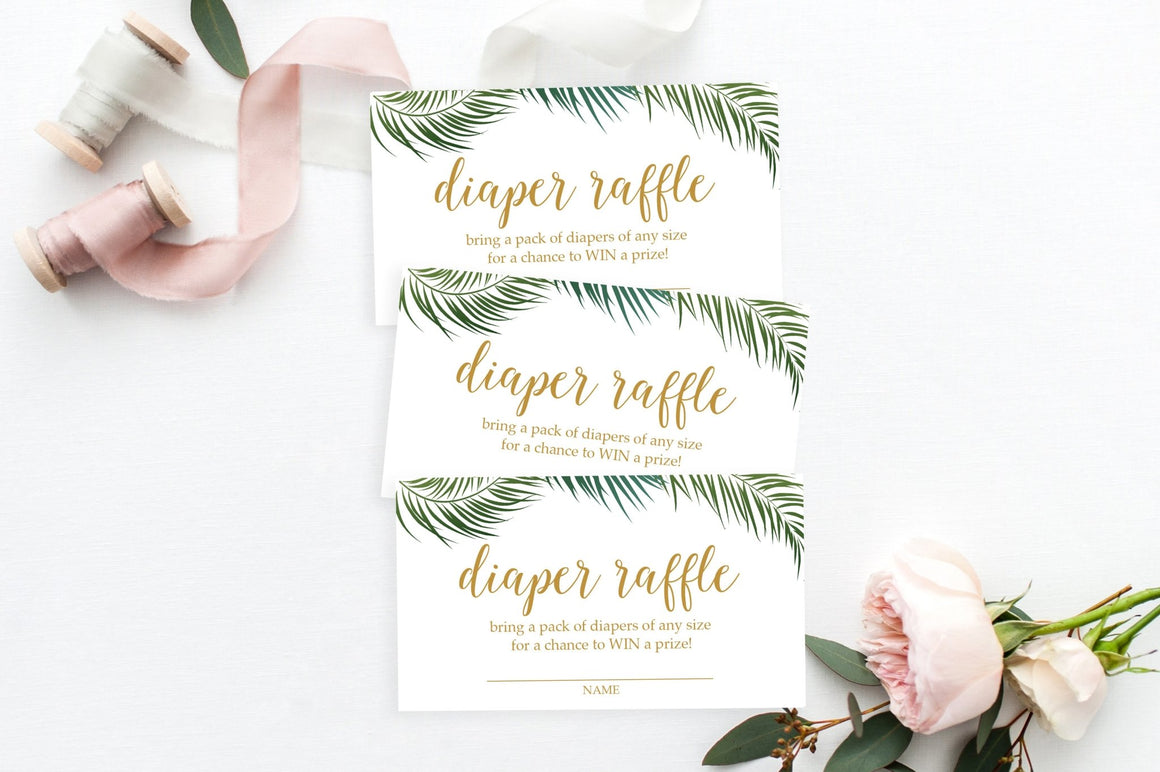 Diaper Raffle - Tropical Printable - Pretty Collected