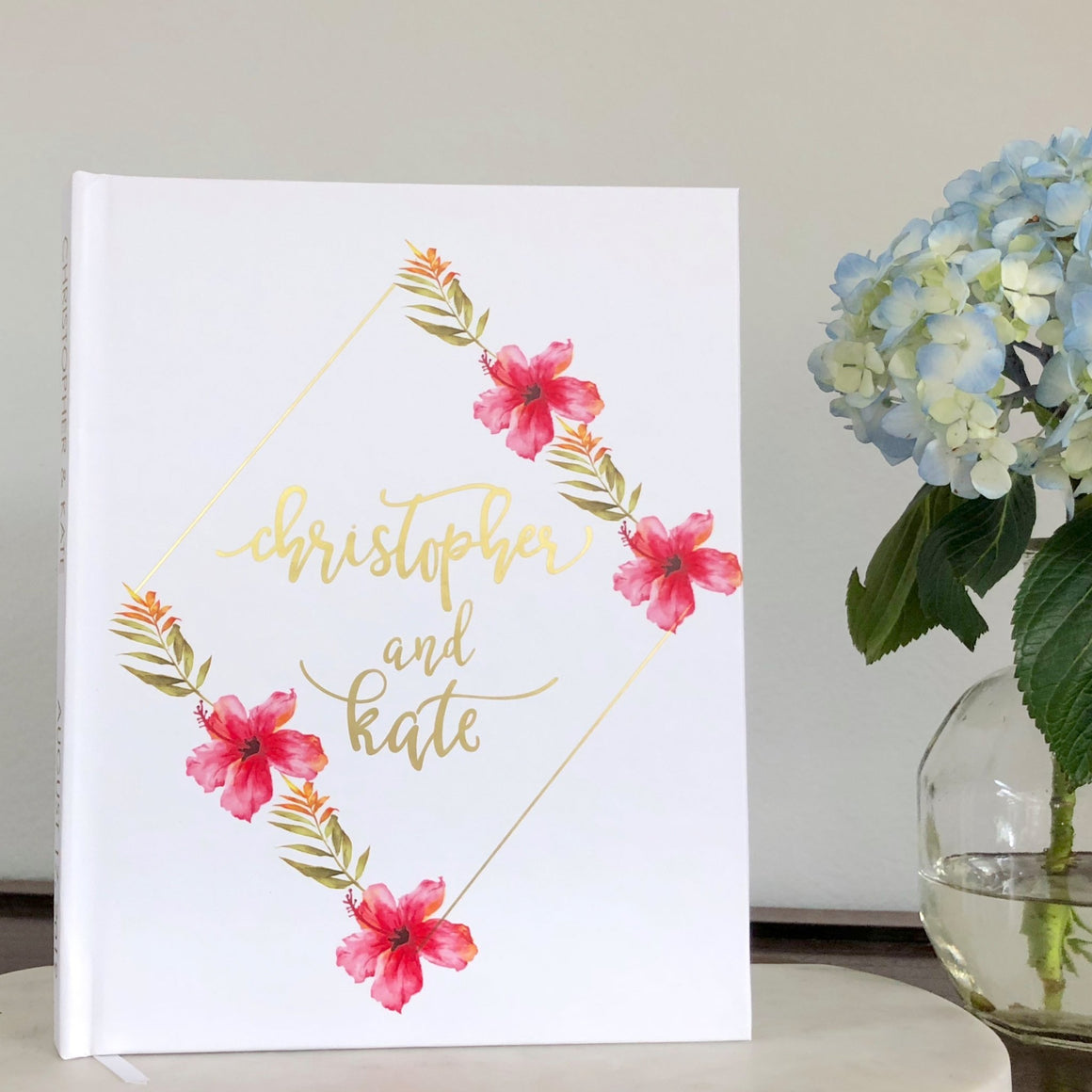 Matte Gold Foil Wedding Guest Book - The Kate - Pretty Collected