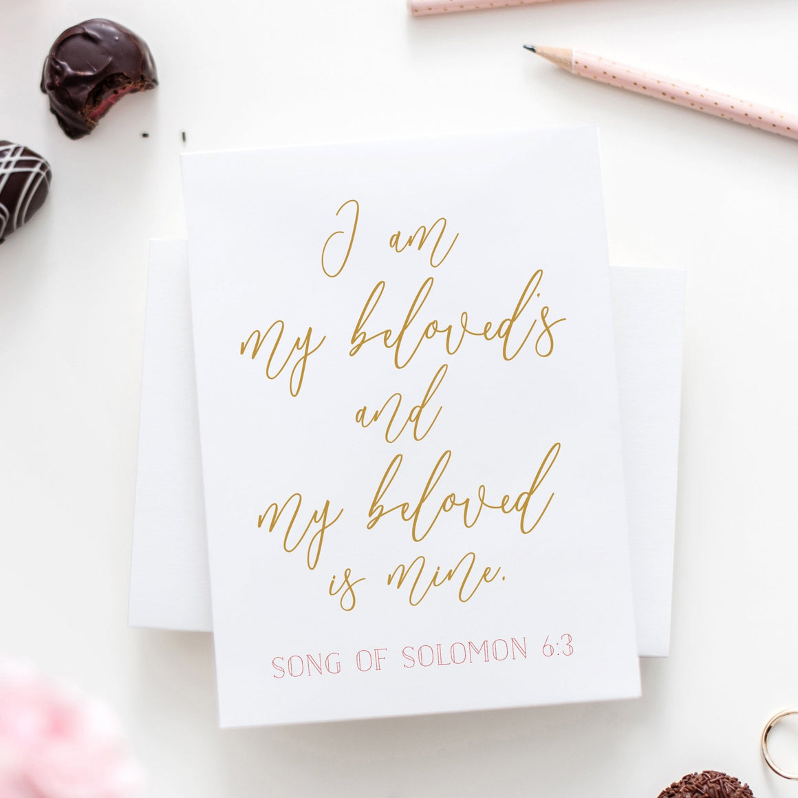 I Am My Beloved's and My Beloved Is Mine Card - FREE Printable - Pretty Collected