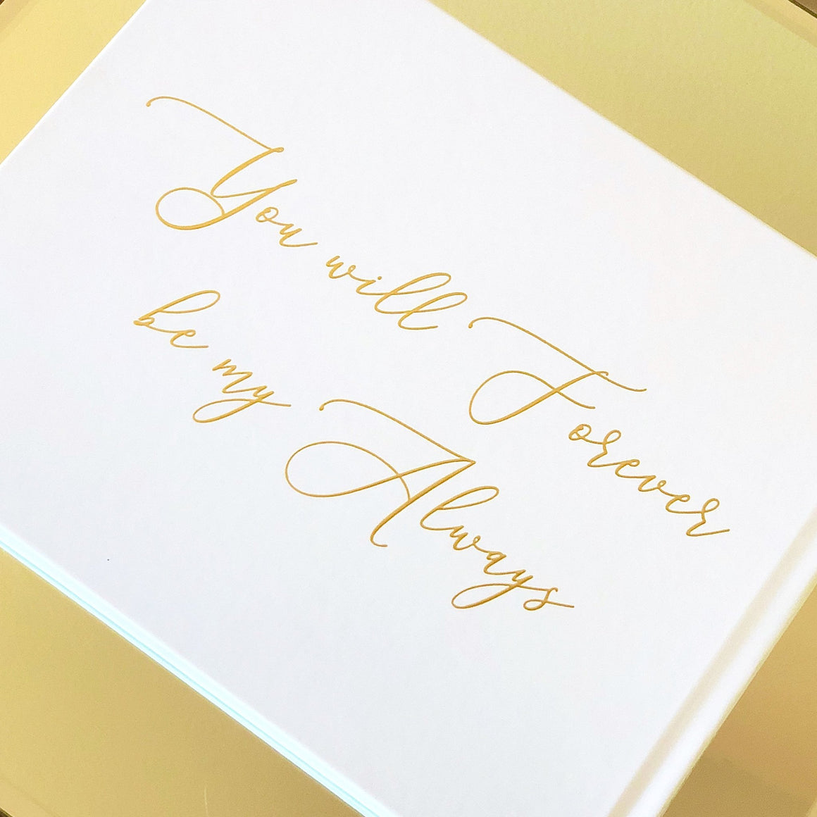 White & Gold Foil Wedding Guest Book - The Jackson - Pretty Collected