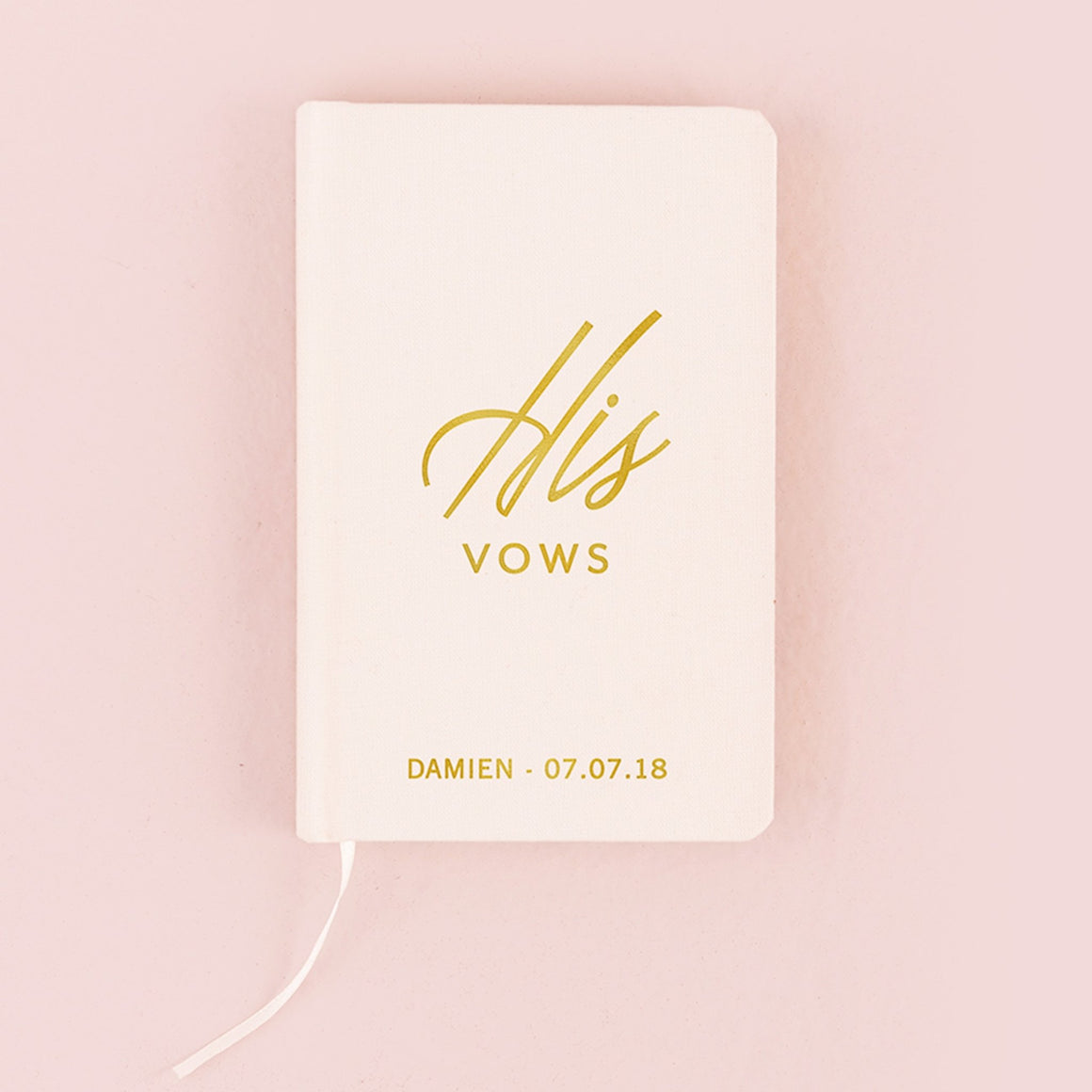 His Vow Book - Ivory White - Pretty Collected