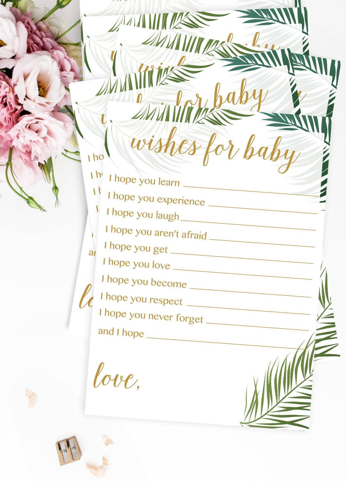 Wishes for Baby - Tropical Printable - Pretty Collected