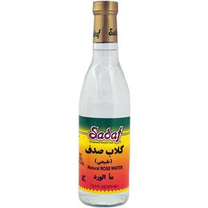 Sadaf Natural Rose Water - 12 oz (12-pack)