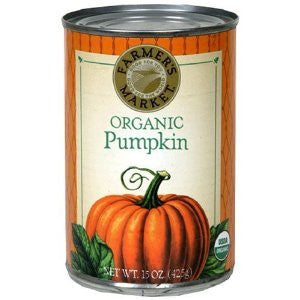 Farmer's Market Organic Pumpkin Puree 15 Oz. Cans (Pack of 6)