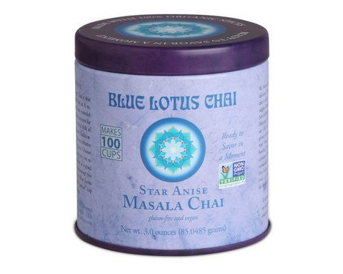 Blue Lotus Star Anise Masala Chai - 3oz Tin (100 cups)