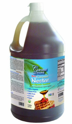 Coconut Secret Raw Organic Coconut Nectar - 1 Gallon
