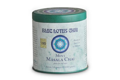 Blue Lotus Mint Masala Chai - 3oz Tin (100 cups)