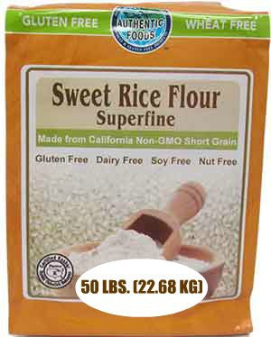 Authentic Foods Sweet Rice Flour, Superfine - 50 lb