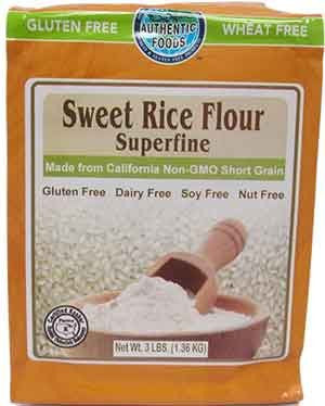 Authentic Foods Sweet Rice Flour, Superfine - 3 lb