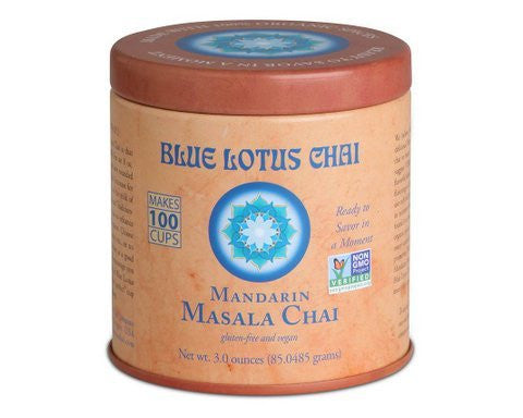 Blue Lotus Mandarin Masala Chai - 3oz Tin (100 cups)
