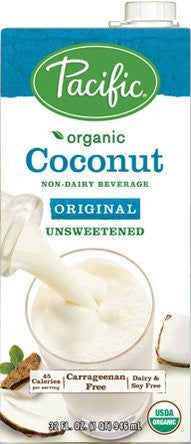 Pacific Foods Organic Unsweetened Coconut Milk, 32 Oz - 3 Pack