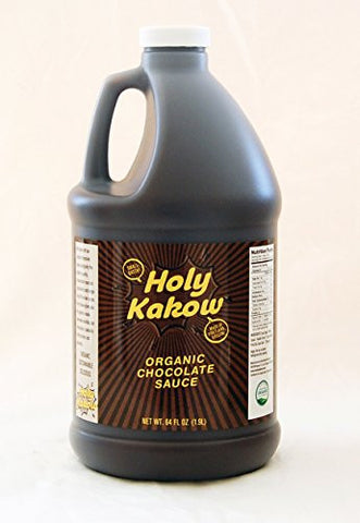 Holy Kakow Cafe Organic Chocolate Sauce - 2 Liter Bottle