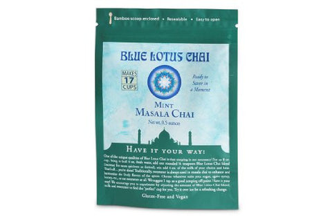 Blue Lotus Mint Masala Chai - .5oz Package (17 cups)