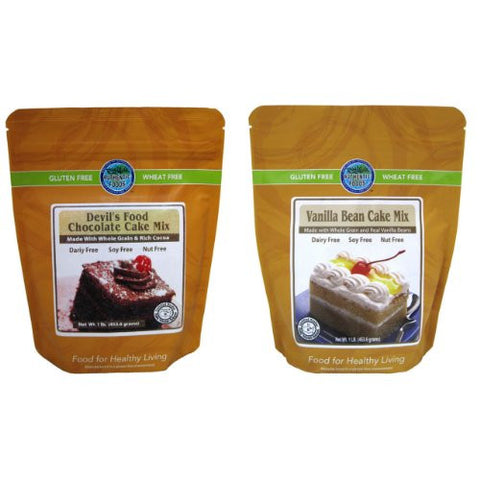 Authentic Foods Vanilla Bean Cake Mix & Devil's Food Chocolate Cake Mix - 2 Pack
