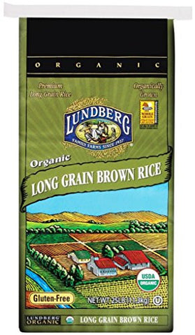 Lundberg Long Brown Rice, Organic - 25 Lbs