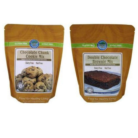 Authentic Foods Double Chocolate Brownie & Chocolate Chunk Cookie Mix - 2 Pack